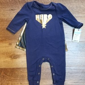 NEW!!! Baby Cat & Jack 2pc. Hero Outfit Sz.0-3mo